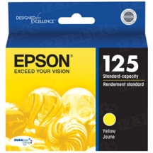 Original Epson 125 Yellow Inkjet Cartridge (T125420), Standard-Capacity