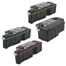Compatible Alternative to Dell 1250, 1350, 1760 High Yield Laser Toner Cartridge 4-Pack - 1 Each of: Black, Cyan, Magenta, and Yellow
