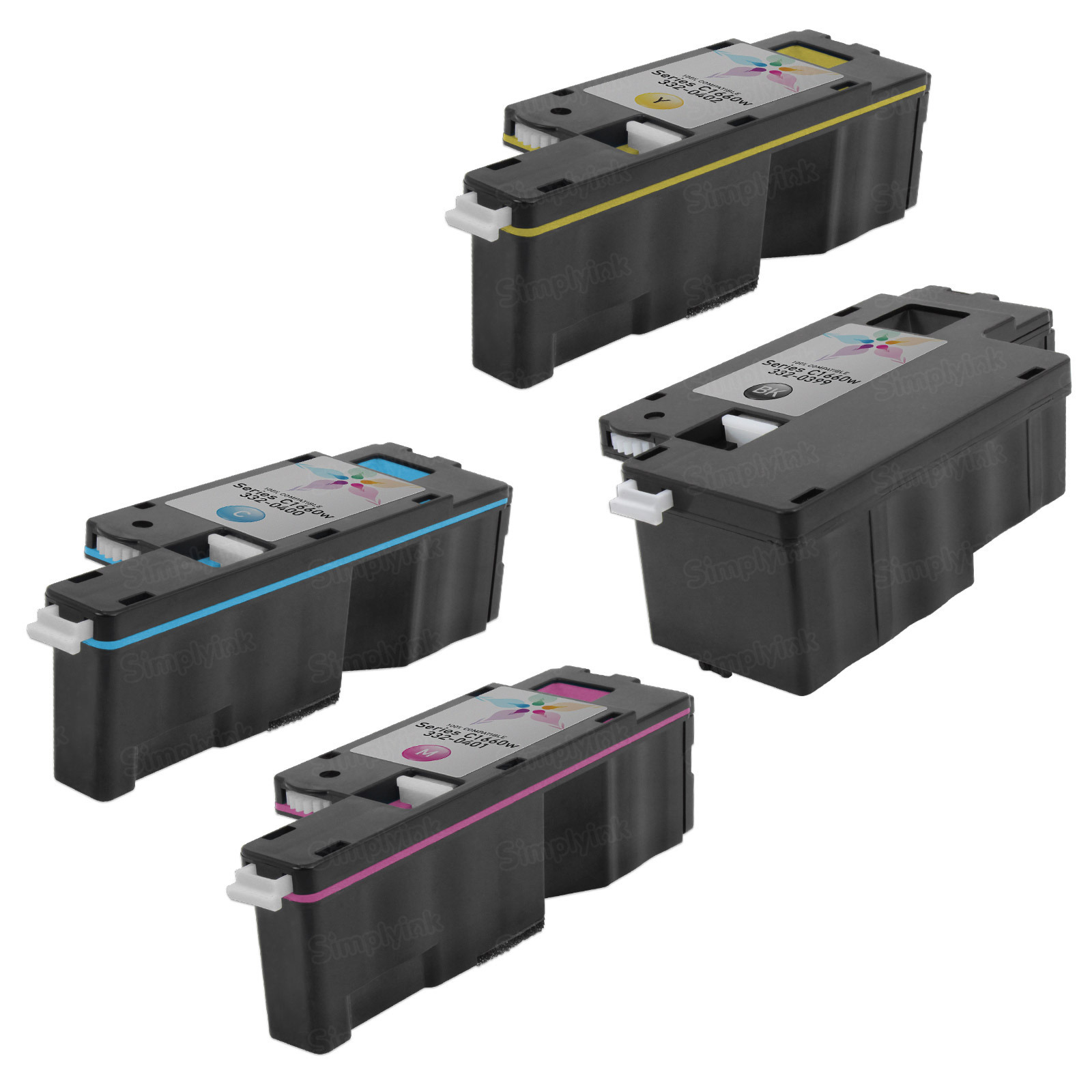 Alternative Toner for Dell C1660w 4-Pack - Black, Cyan, Magenta, Yellow