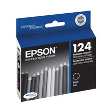 Original Epson 124 Black Inkjet Cartridge (T124120), Moderate-Capacity