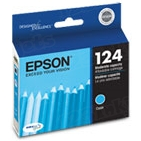 Original Epson 124 Cyan Inkjet Cartridge (T124220), Moderate-Capacity