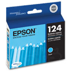 Epson 124 Cyan OEM Ink Cartridge (T124220)