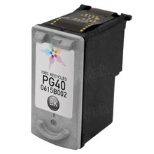 Remanufactured Canon PG40 (0615B002) Pigment Black Ink Cartridges