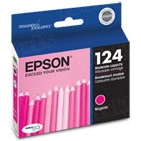 Original Epson 124 Magenta Inkjet Cartridge (T124320), Moderate-Capacity