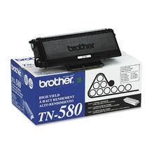 OEM Brother TN580 High Yield Black Laser Toner Cartridge
