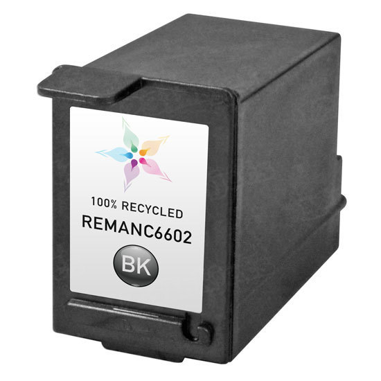 Remanufactured Replacement Black Ink for HP C6602A