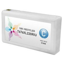 Remanufactured Replacement for Epson T676XL220 (676XL) High Yield Cyan Ink Cartridges