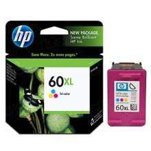 Genuine HP 60XL Tri-Color Ink Cartridge in Retail Packaging (CC644WN) High-Yield