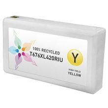 Remanufactured Replacement for Epson T676XL420 (676XL) High Yield Yellow Ink Cartridges