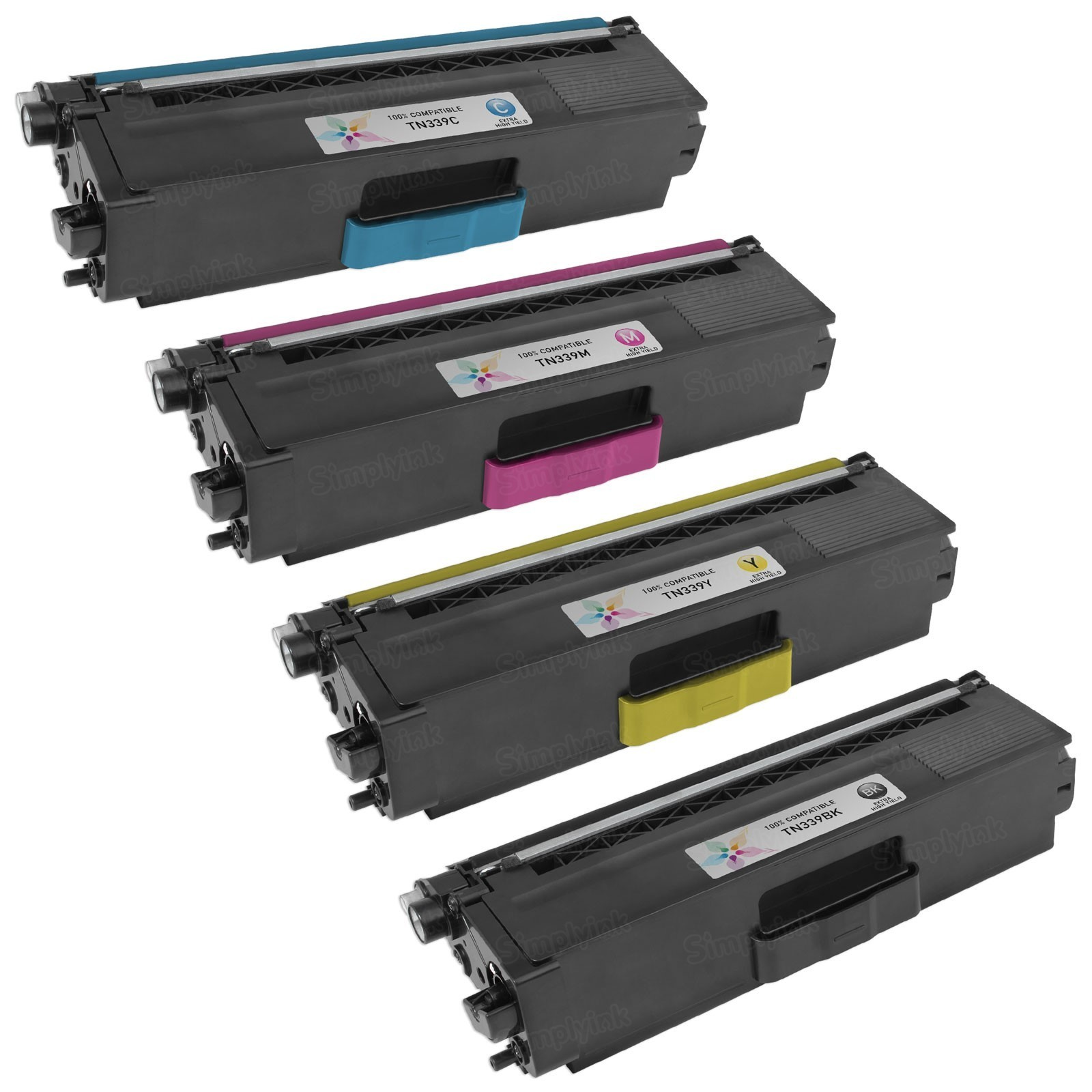 Brother TN339 Compatible Toners (Set of 4) - Black, Cyan, Magenta, Yellow