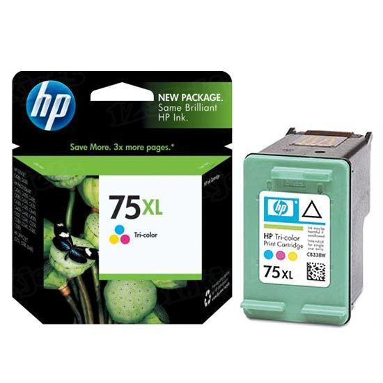 HP 75XL Tri-Color Original Ink Cartridge CB338WN
