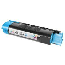 Compatible Okidata 43034803 Cyan Laser Toner Cartridges for the Oki C3200, C3100 1.5K Page Yield