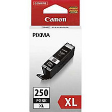 Canon PGI-250XL Black OEM High-Yield Ink Cartridge, 6432B001