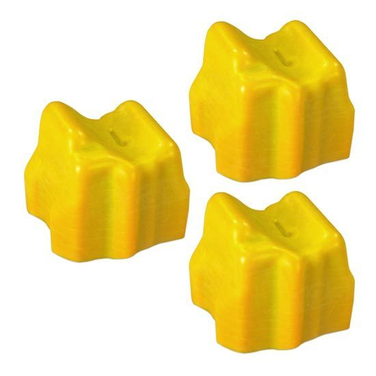 Compatible Xerox 108R00725 Yellow 3-Pack Solid Ink for the Phaser 8560
