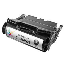 Remanufactured IBM 75P6963 High Yield Black Laser Toner Cartridges for the InfoPrint 1552n, 1572