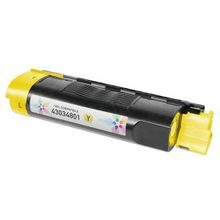 Compatible Okidata 43034801 Yellow Laser Toner Cartridges for the Oki C3200, C3100 1.5K Page Yield