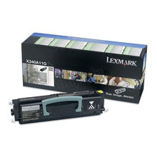 Lexmark OEM Black Return Program Laser Toner Cartridge, X340A11G (2.5K Page Yield)