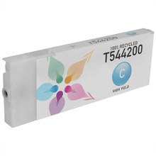 Remanufactured Replacement for Epson T544200 (T5442) High Capacity Pigment Cyan 220ml Ink Cartridge
