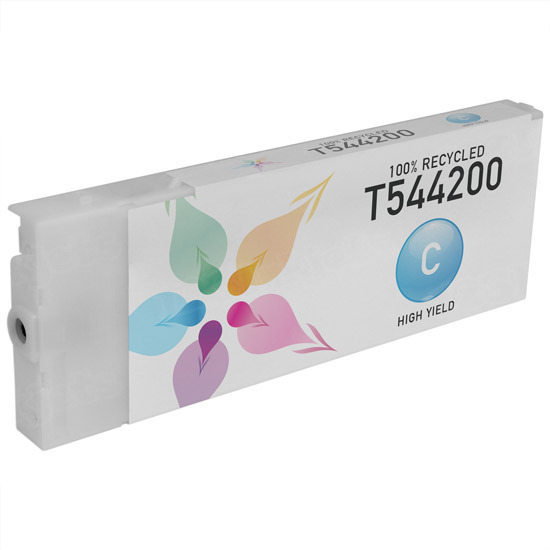 Epson Remanufactured T544200 Cyan Pigment Inkjet Cartridge