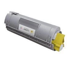 Compatible Okidata 43865717 High Yield Yellow Laser Toner Cartridges for the Oki C6150, MC560 6K Page Yield