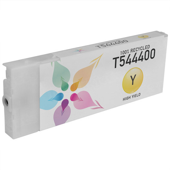 Epson Remanufactured T544400 Yellow Pigment Inkjet Cartridge