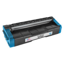 Compatible Ricoh SP C250A Cyan Laser Toner Cartridge, 407540