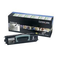 Lexmark OEM High Yield Black Return Program Laser Toner Cartridge, X340H11G (6K Page Yield)