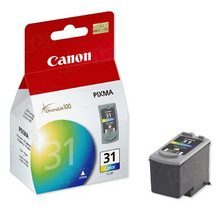 Canon CL-31 Tri-Color OEM Ink Cartridge, 1900B002