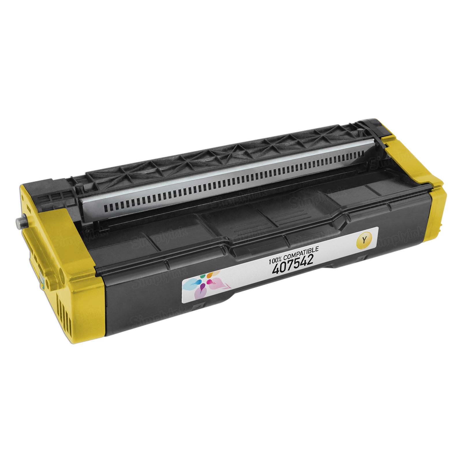 Compatible 407542 Yellow Toner for Ricoh
