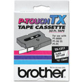Brother TX-1311 1/2 Black on Clear OEM Tape
