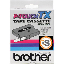 Brother TX4311 Black on Red OEM 1/2 Label Tape
