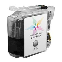 Compatible Brother LC107BK Super High Yield Black Ink Cartridges