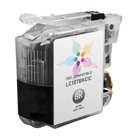 Brother Compatible LC107BK Super High Yield Black Ink