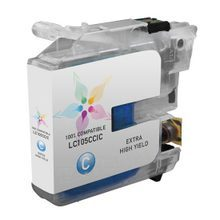 Compatible Brother LC105C Super High Yield Cyan Ink Cartridges