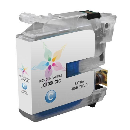 Brother Compatible LC105C Super High Yield Cyan Ink