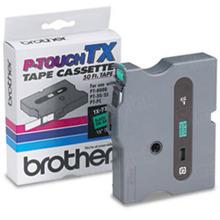 Brother TX7311 Black on Green OEM 1/2 Label Tape