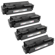 Compatible Replacement for HP 410X Black, Cyan, Magenta, Yellow Set of 4 Toner Cartridges