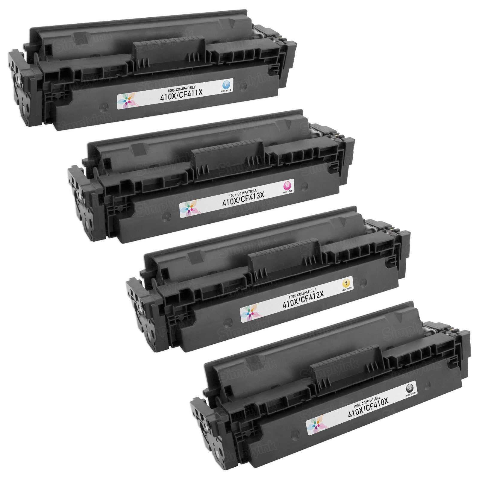 Compatible Replacement for HP 410X (Bk, C, M, Y) Set of 4 Toners
