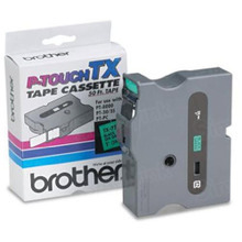 Brother TX7511 Black on Green OEM 1 Label Tape