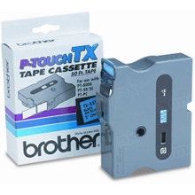 Brother TX5511 Black on Blue OEM 1 Label Tape