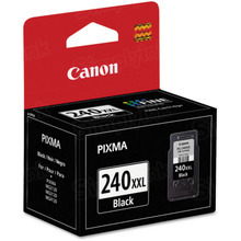 Canon PG-240XXL Black OEM Extra High-Yield Ink Cartridge, 5204B001