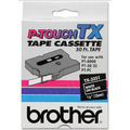 Brother TX-3351 1/4 White on Black OEM Tape