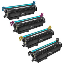Remanufactured Replacement for HP 504X Black, Cyan, Magenta, Yellow Set of 4 Toner Cartridges