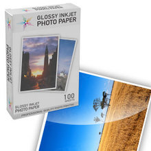 Premium Glossy Inkjet Photo Paper (4X6) 100 pack - Resin Coated