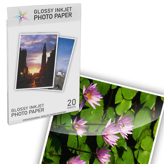 Premium Glossy Photo 8.5x11 20 pack - Resin Coated