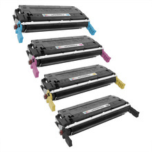 Remanufactured Replacement for HP 641A Black, Cyan, Magenta, Yellow Set of 4 Toner Cartridges