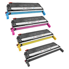 Remanufactured Replacement for HP 645A Black, Cyan, Magenta, Yellow Set of 4 Toner Cartridges