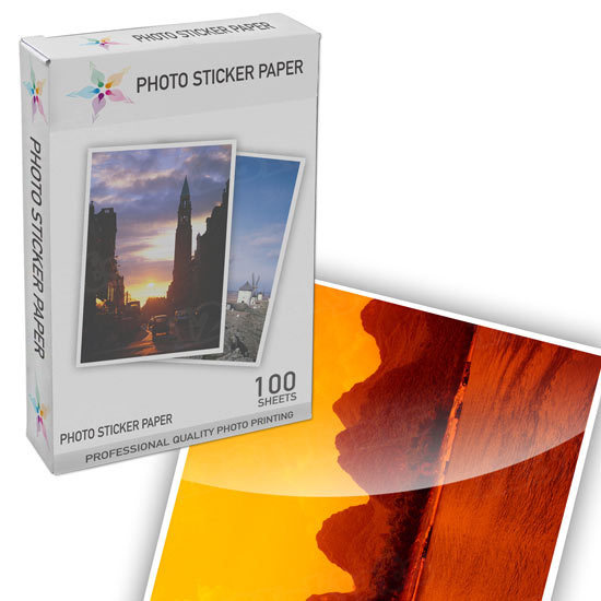 Glossy Photo 8.5x11 100 pack - With Sticker