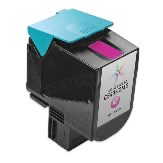Remanufactured C540H2MG HY Magenta Toner Cartridge for Lexmark