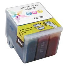 Remanufactured Epson S020191 (S191089) Color Ink Cartridges